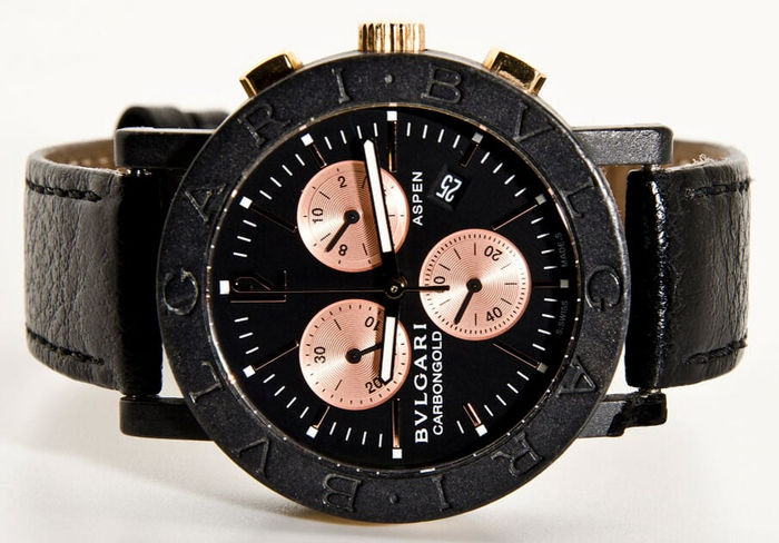 cf5b3488664 Bulgari Chronograph Carbon Gold Limited Editie nr. 187   999 – Men s Watch