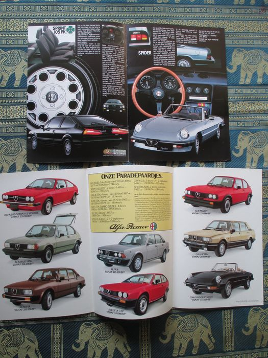 car leaflets alfa romeo catawiki. Black Bedroom Furniture Sets. Home Design Ideas