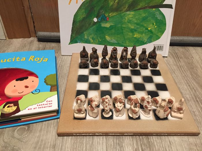 Funny Ceramic Chess Set From The Second Half Of The 20th