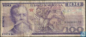 Mexique Pesos 100