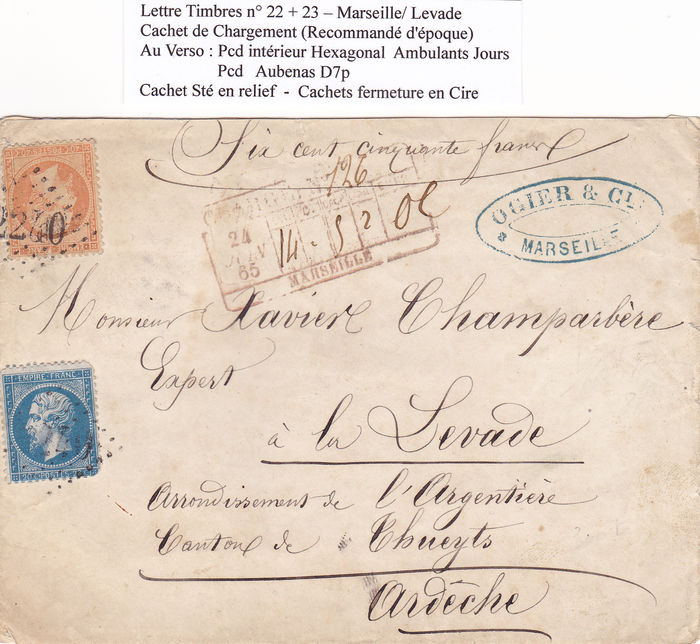 France 1862/1870 - 4 complete letters - Catawiki