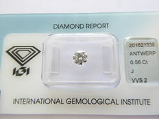0.56 ct brilliant cut diamond with IGI certificate ***Low Reserve Price***