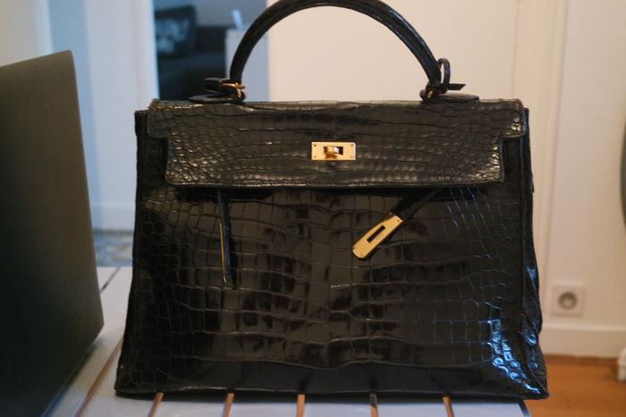 13cb4cecf3 Hermès Kelly 32 - Splendide en crocodile - Sac a main - Catawiki
