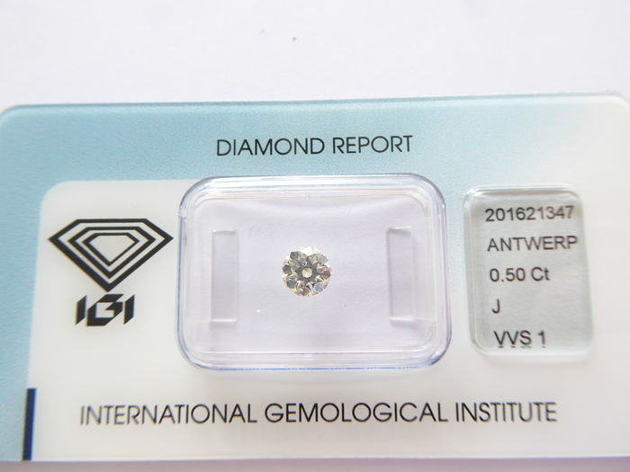 0.50 ct brilliant cut diamond J VVS1
