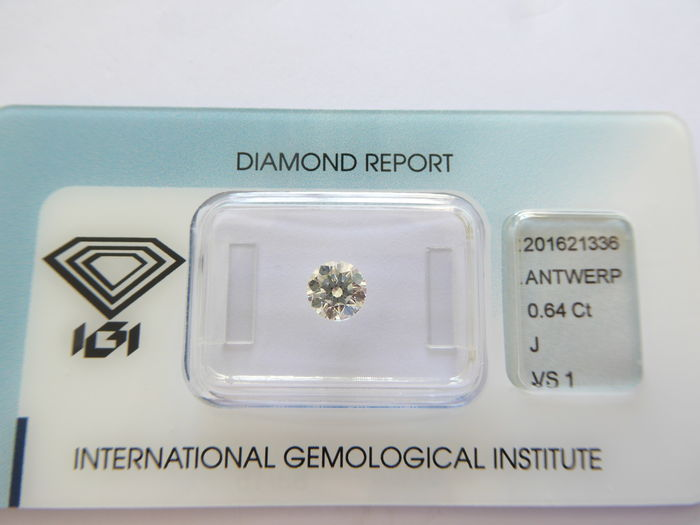 0.64 ct  J VS1 briljant geslepen diamant