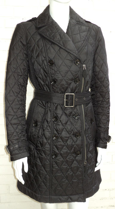 d1a1e7305e37d Burberry Brit – Black Diamond Quilted Trench Coat - Catawiki
