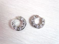 White gold 18 kt diamond earrings
