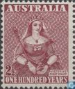 One hundred years stamps