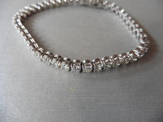 18k Gold Diamond Tennis Bracelet - 8.55 ct