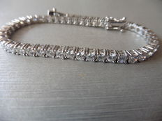 18k Gold Diamond Tennis Bracelet  - 6 ct  F/G SI2