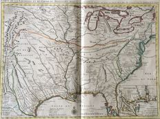 USA, Louisiana, Mississippi: Covens & Mortier / Guillaume de l'Isle - Carte de la Louisiane et du cours du Mississippi - 1733