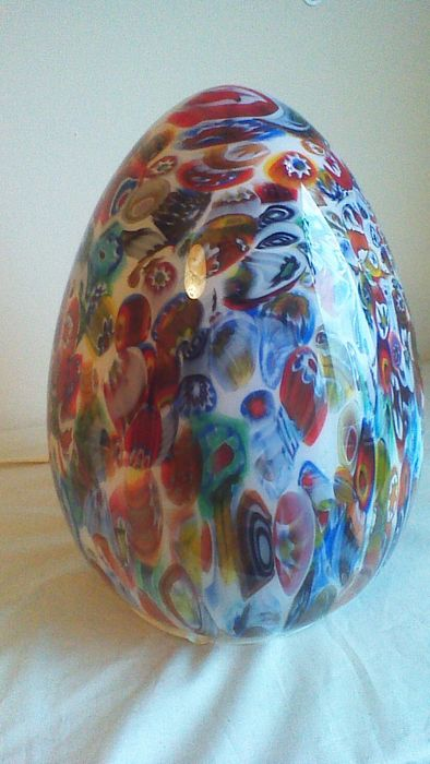 Ilu Design Xl Millefiori Egg Murano Glass Lamp Catawiki