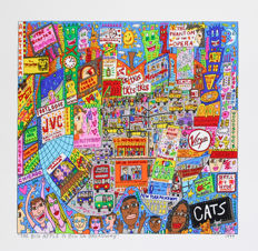 James Rizzi - The Big Apple Is Big On Broadway, The Big Apple Is Big On Coney Island