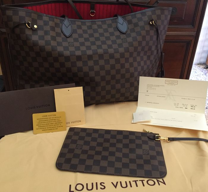 Louis Vuitton - Damier - Neverfull GM - Sac femme - Catawiki 30f9f433039