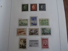Greece, Israel and USA 1945/1995 - Batch in Davo album, postal items etc. + box world with over 12,500 stamps