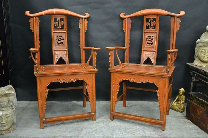 Chairs with armrest, antiquity - China - around 1900 century - Chairs With Armrest, Antiquity - China - Around 1900 Century - Catawiki