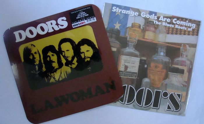 Lot of 2 albums of The Doors - 1 LP The Doors L A Woman Rhino