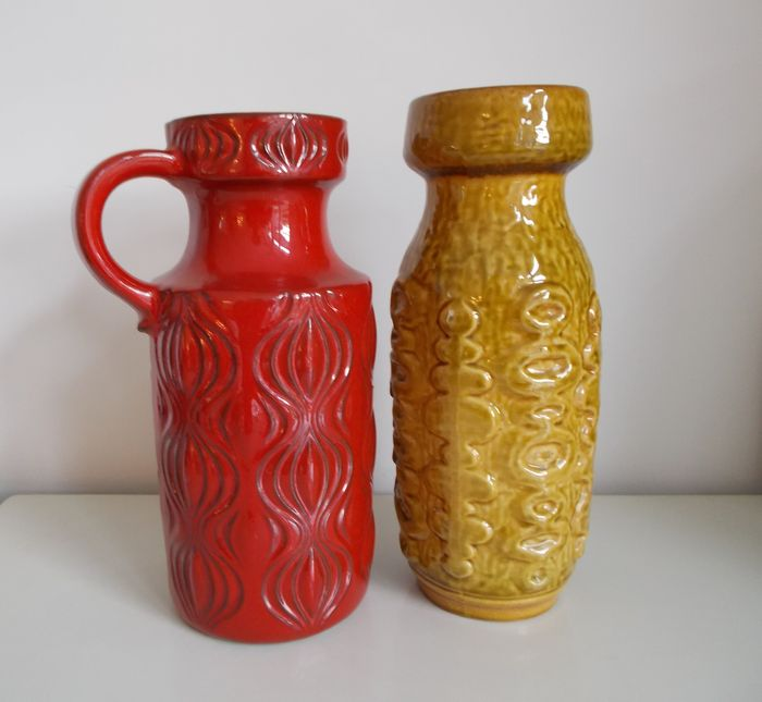 Scheurich and Carstens - Two Op Art vintage vases