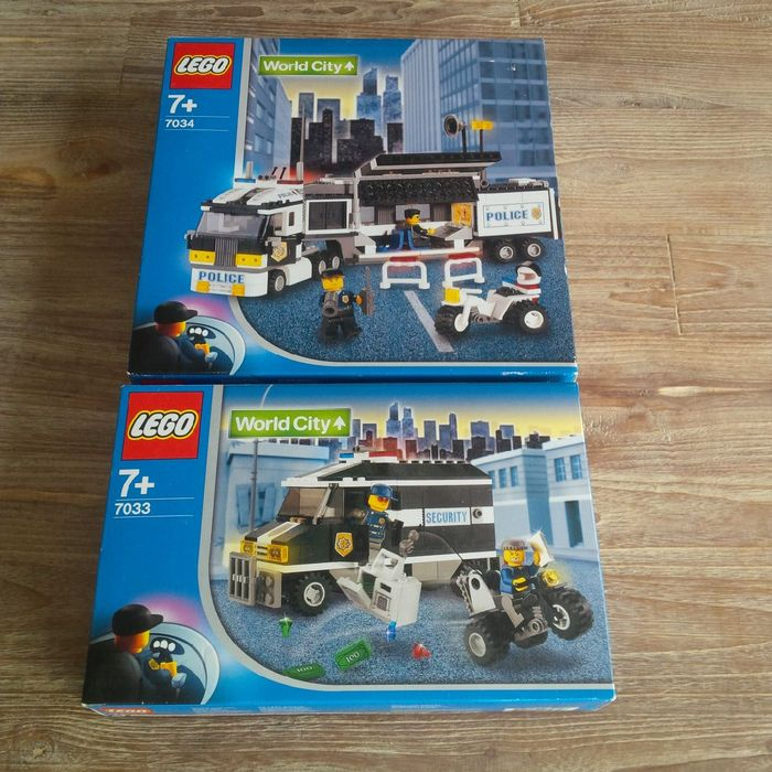 World City - 7033 + 7034 - Armored Car Action + Surveillance Truck