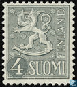 Postage Stamps - Finland - Heraldic lion-new type