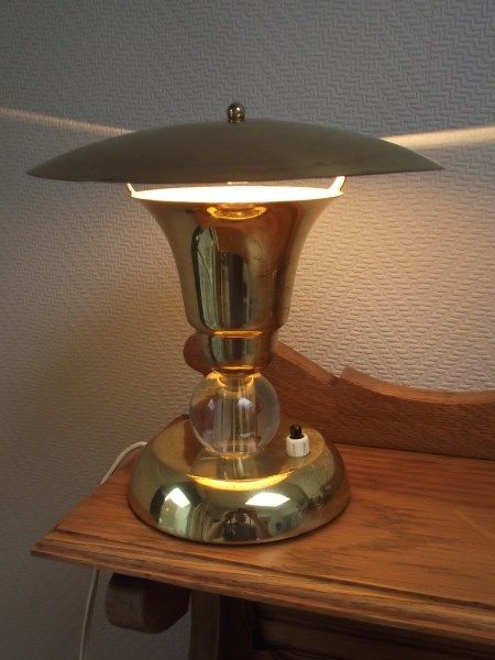 art deco ambience lamp in brass catawiki. Black Bedroom Furniture Sets. Home Design Ideas