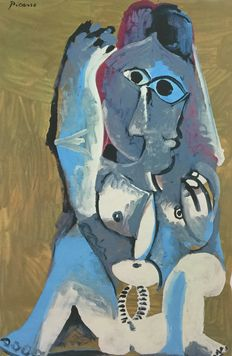 Pablo Picasso (after) - Femme Accroupie