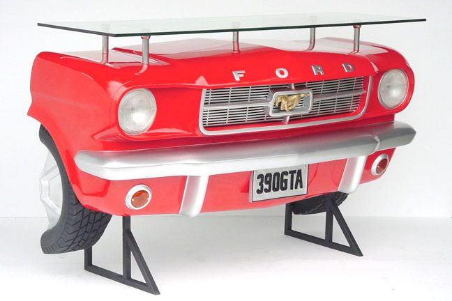 Ford Mustang bar - 183 x 129 x 78 cm - exclusive bar in the shape of a Ford Mustang