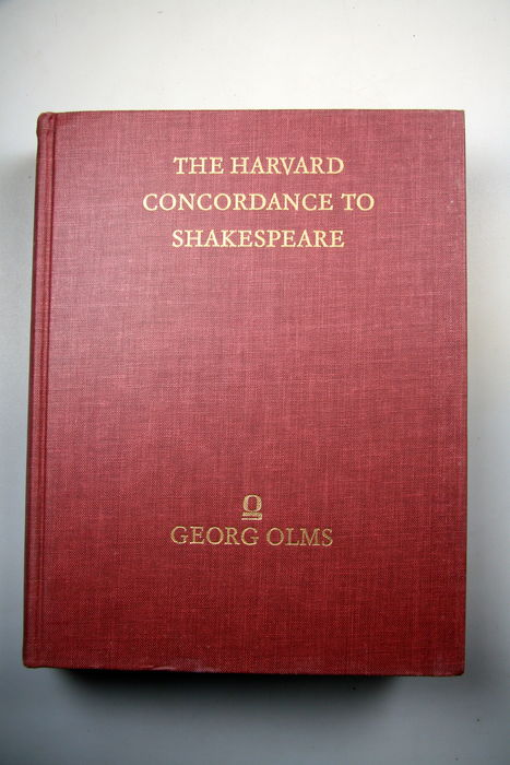 Marvin Spevack The Harvard Concordance To Shakespeare