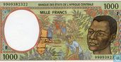 Central Africa States - 1000 francs in 1999