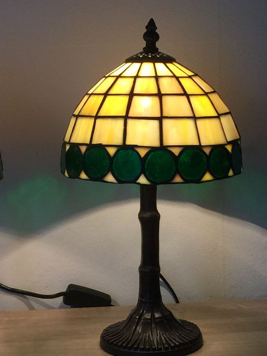 Deux lampes de table style tiffany catawiki - Lampe de table style tiffany ...