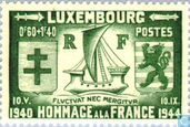 Postage Stamps - Luxembourg - Tribute to France