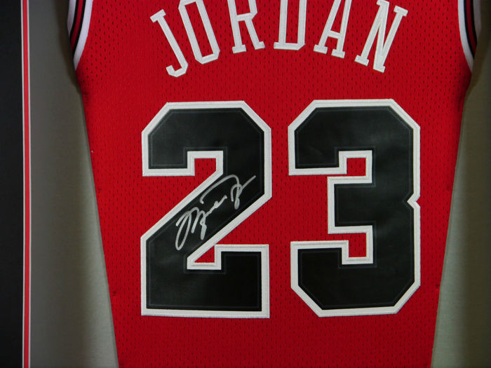 f9ef13b187d Michael Jordan - Chicago Bulls - 3D Framed Home Jersey signed with autopen  + COA.