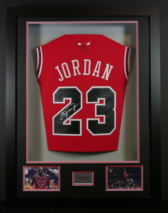 Michael Jordan - Chicago Bulls - 3D Framed Home Jersey signed with ...