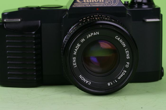 Canon T50 35 Mm Camera with 50 Mm 1:1.8 Lens A
