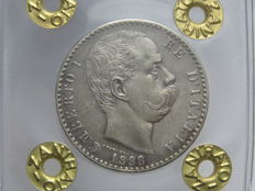 Kingdom of Italy, 1898 – 2 lire, Umberto I – Silver