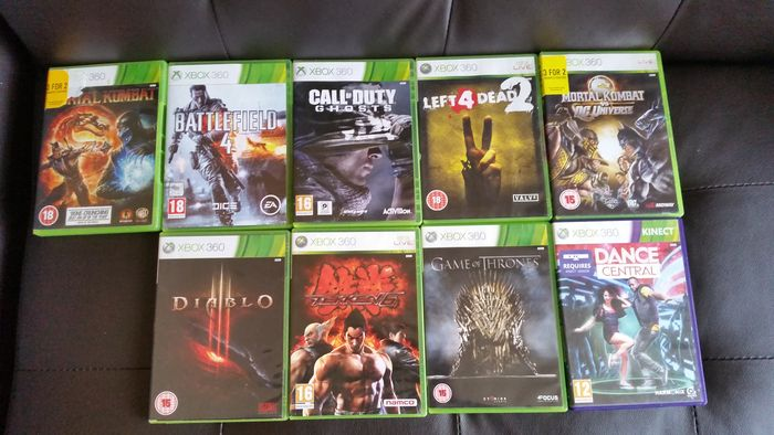 Lot of 9 Xbox 360 games ( Battlefield 4, Call of Duty Ghost, Left 4 Dead