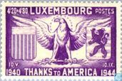 Postage Stamps - Luxembourg - Tribute to the United States