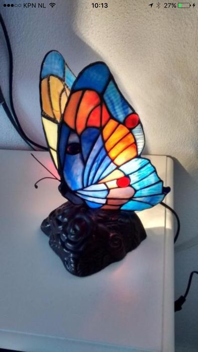 Tiffany Style Butterfly Lamp And 2 Tiffany Table Lamps Catawiki