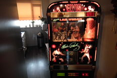 Rare Jukebox Elvis Presley edition NSM, with LED lights adjustable in various ways and colours and remote control
