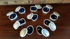 Lot of 10 Franklin Porcelain music boxes