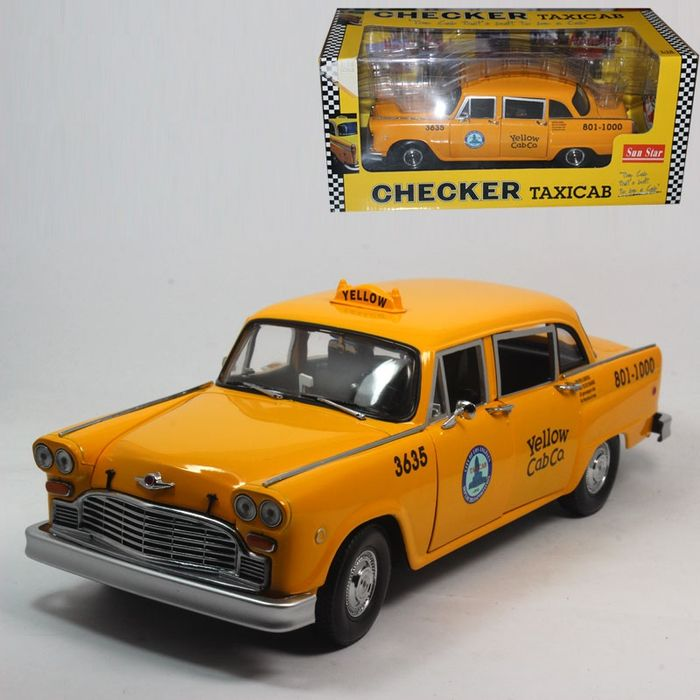 Sun Star - Scale 1/18 - Los Angeles taxi Checker yellow cab - Catawiki