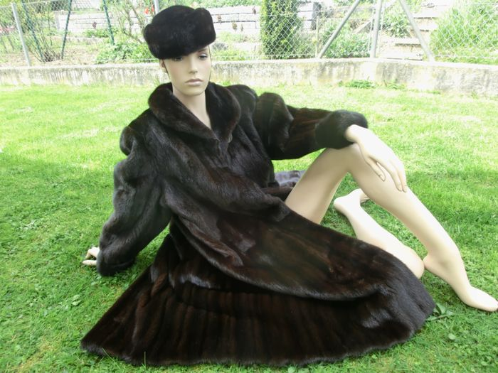 American fur Ewards ultra USA Mink - Mink Fur Coat Swinger + Mink Hat