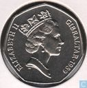 "Gibraltar 50 pence 1989 (AA) ""Christmas-Choir boy"""