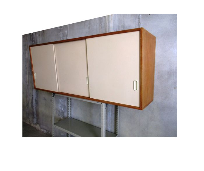 Vintage Kitchen Wall Cabinet With Back Wall