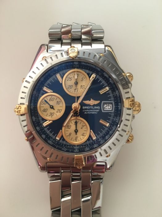 breitling chronomat gt 18 kt gold edelstahl selten. Black Bedroom Furniture Sets. Home Design Ideas