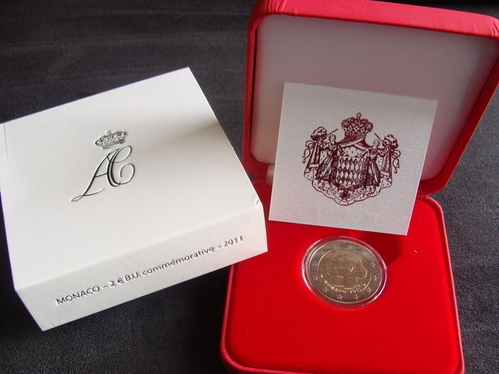 "Monaco – 2 Euro 2011 ""Wedding Albert II and Charlene"""