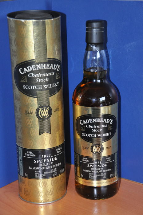 Balmenach  - Glenlivet 1971 30 years old - Cadenhead's Chairmans Stock