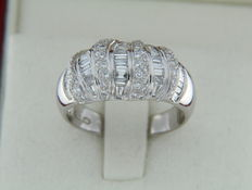 White gold ring + Diamonds of 1.15 ct