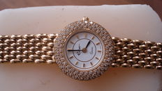 ECLAT round gold women's watch, with gold strap and 1 ct River diamonds, 2003