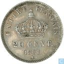 France 20 centimes 1867 (A)